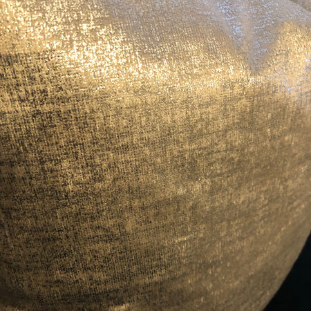 Silver metallic luxe cushion 45cm
