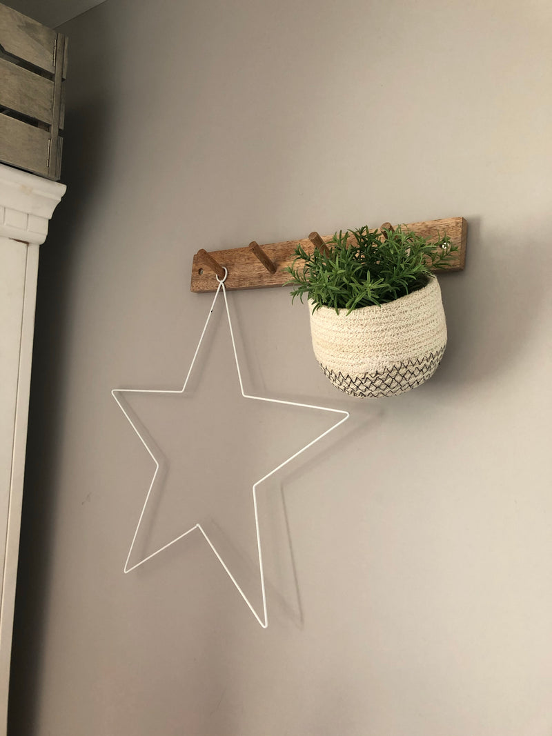 Woven hanging planter tub