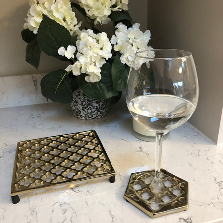 Gold Marrakech metal Trivet
