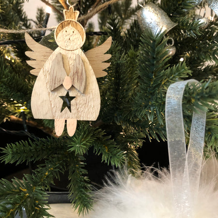 Store seconds Wooden hanging angel mixed