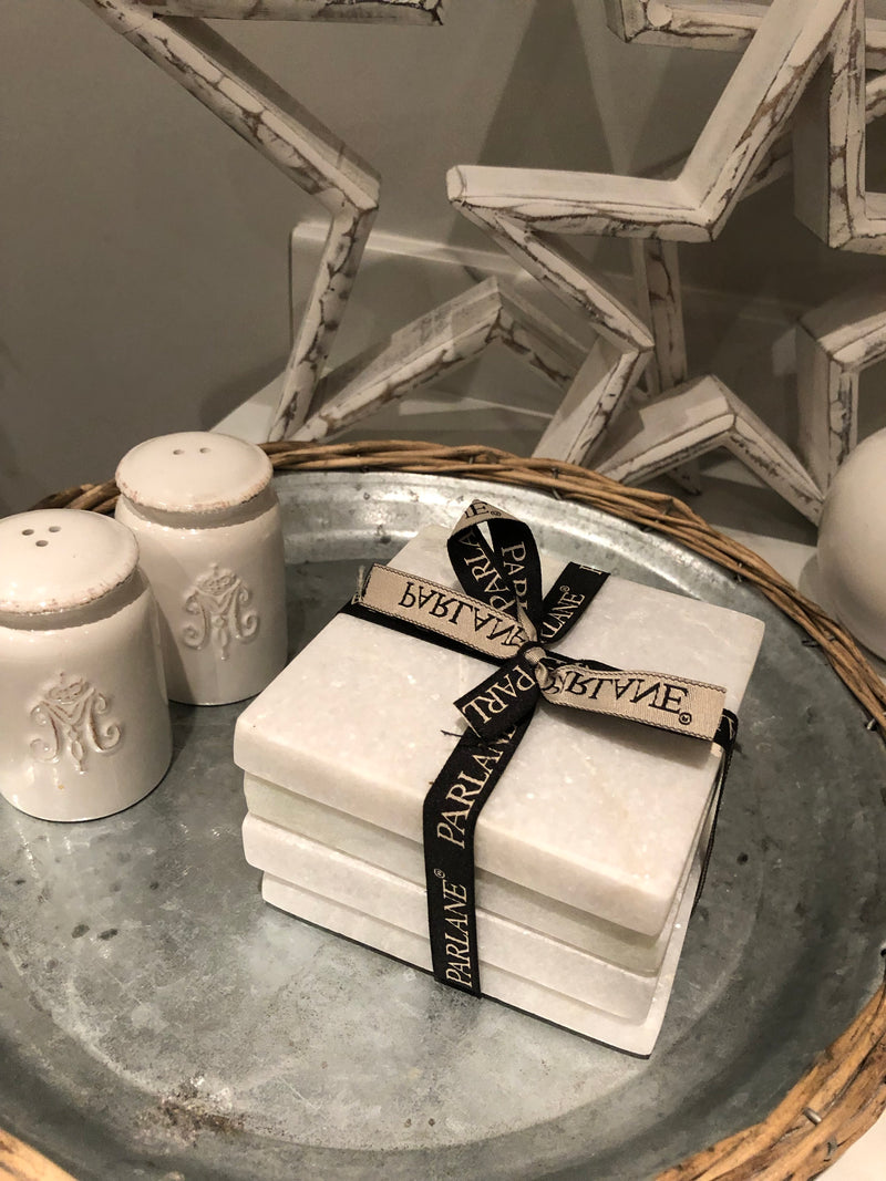 Set of 4 Marble Parlane coasters