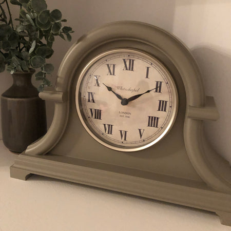 Grey Whitechapel mantle clock