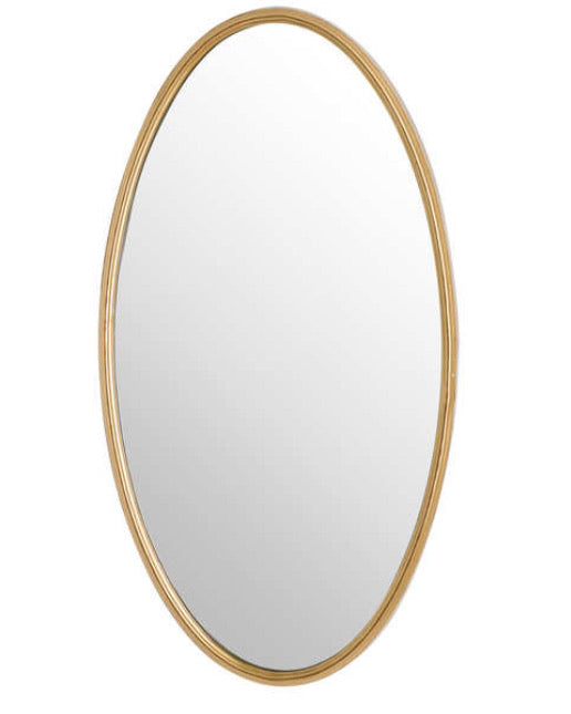 Store seconds Antique Bronze gold Oval Mirror