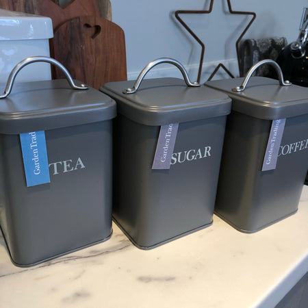 Grey Tea, Coffee & Sugar set