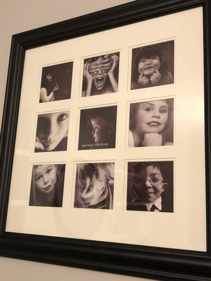 Black 9 picture multi frame