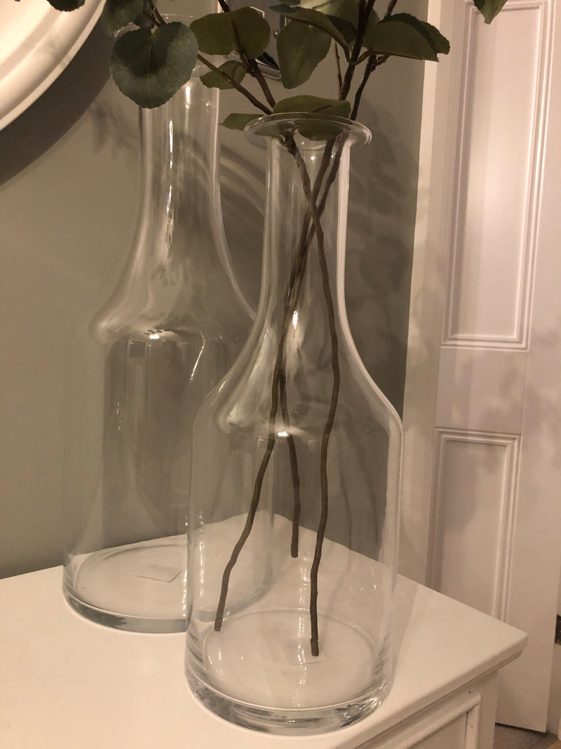 Large bottle glass vase 48cm