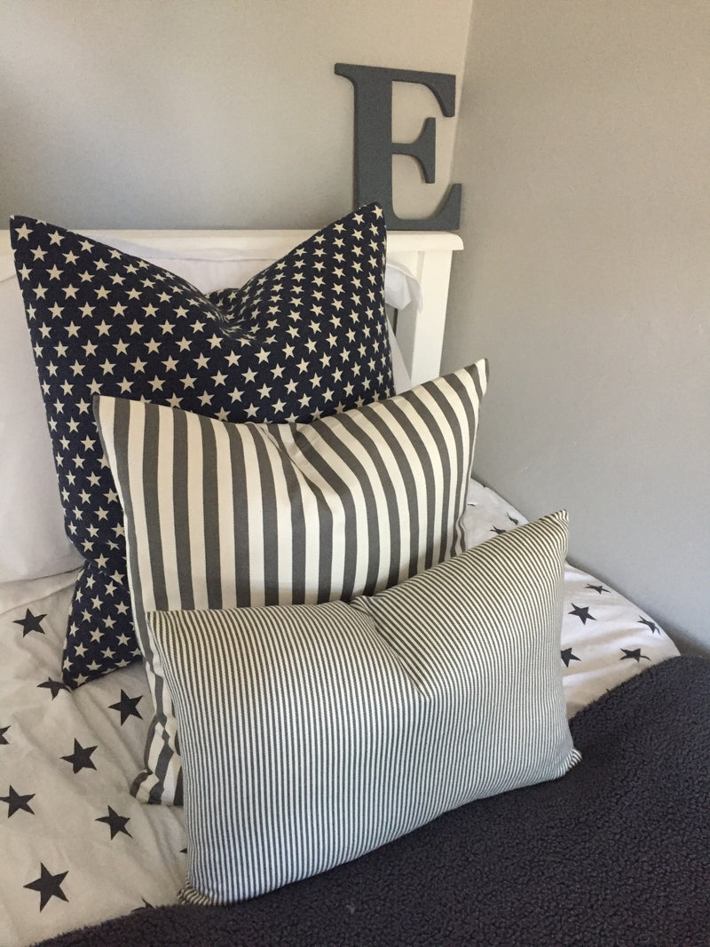 Navy star cushion