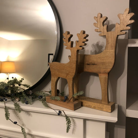 Medium mango wood standing Reindeer