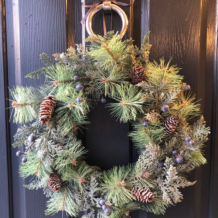 Fir leaf, Pine cone and Blueberry wreath