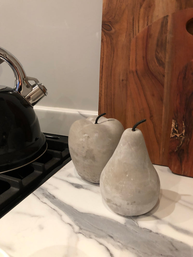 Cement stone Apple and Pear set
