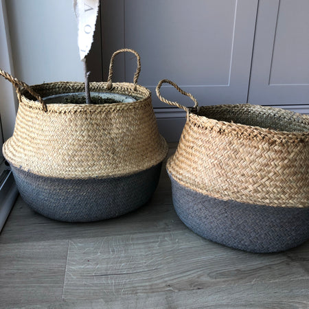 Store seconds large grey sea grass weave basket