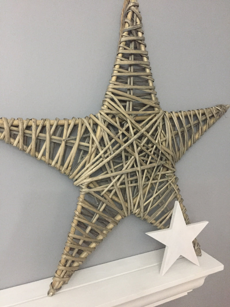 Medium Light Willow Star 42cm