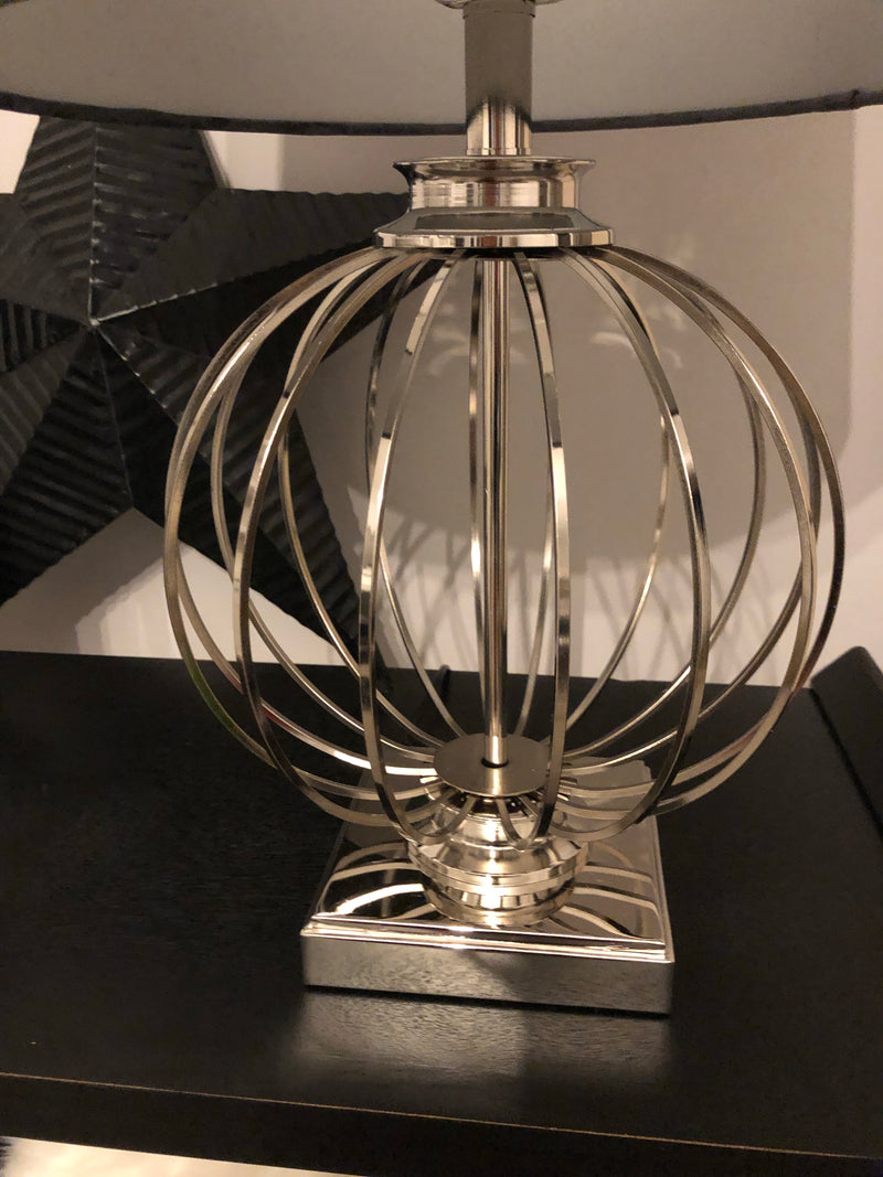 Clementine chrome round lamp