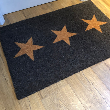 Large 3 Star doormat rug coir