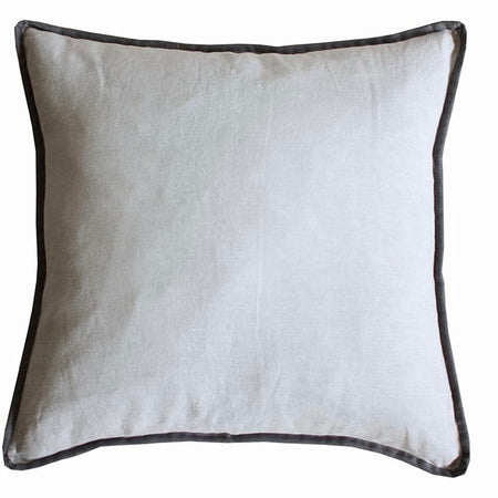 Dark grey piping border cushion 50cm