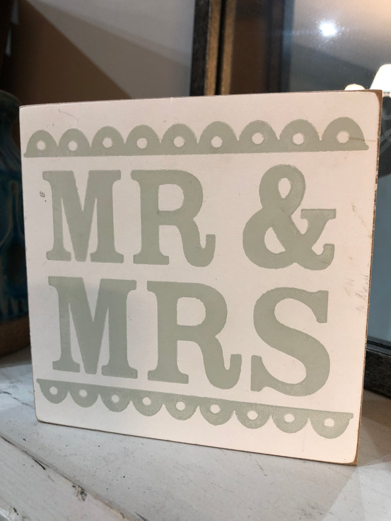 Store seconds mr and mrs sign