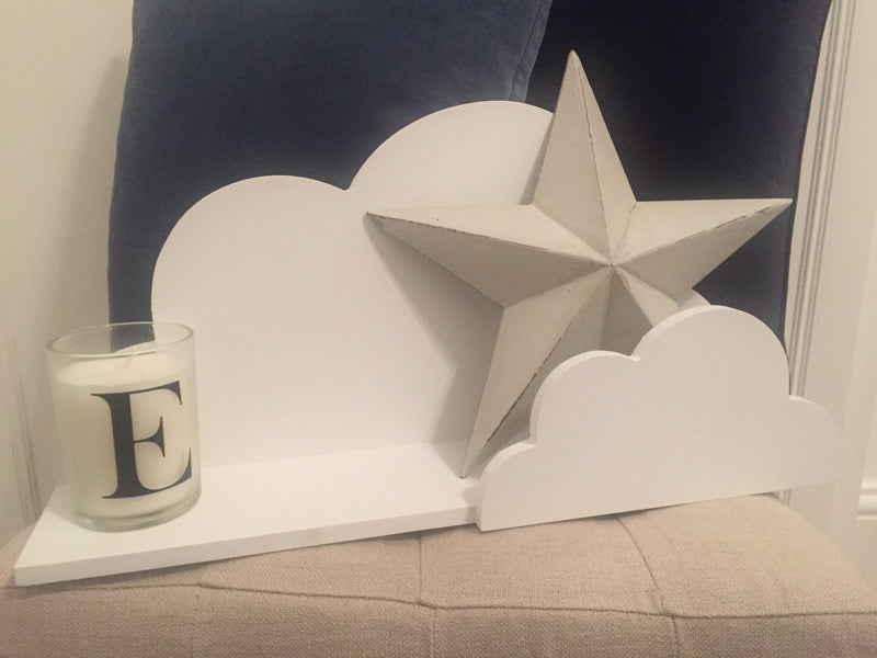 White floating cloud shelf