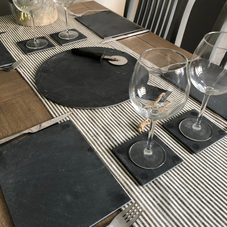 Slate placemats and coasters set 4