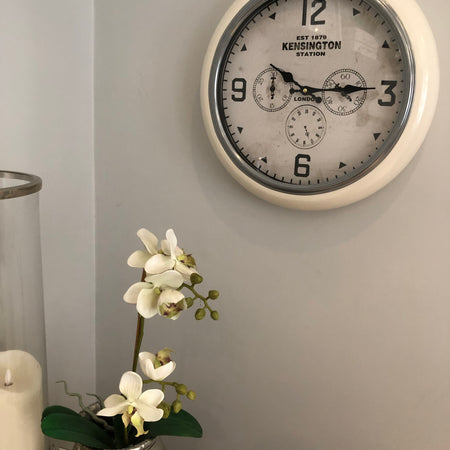 Cream Kensington Clock