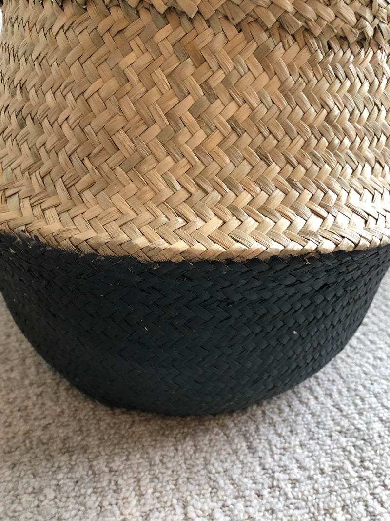 Medium Black dipped grass basket