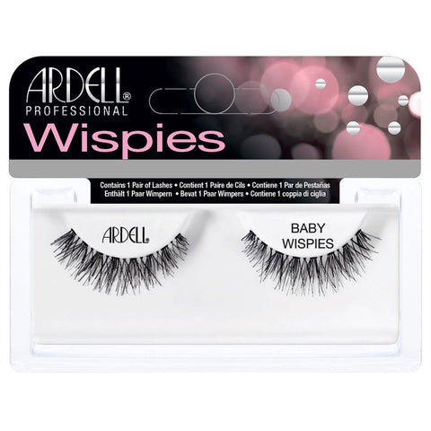 Ardell Invisiband Lashes Black - Baby Wispies - Glammua