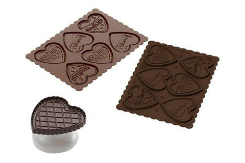 Chocolate Mould with Cutter Cookie Love (Slim)