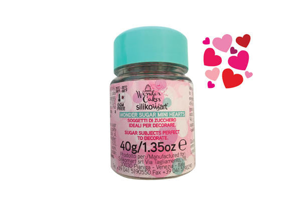 Candy Wonder Sugar Mini Hearts 40g