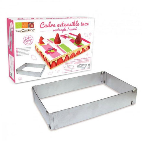 Adjustable Rectangle Frame for Cake - Stainless Steel