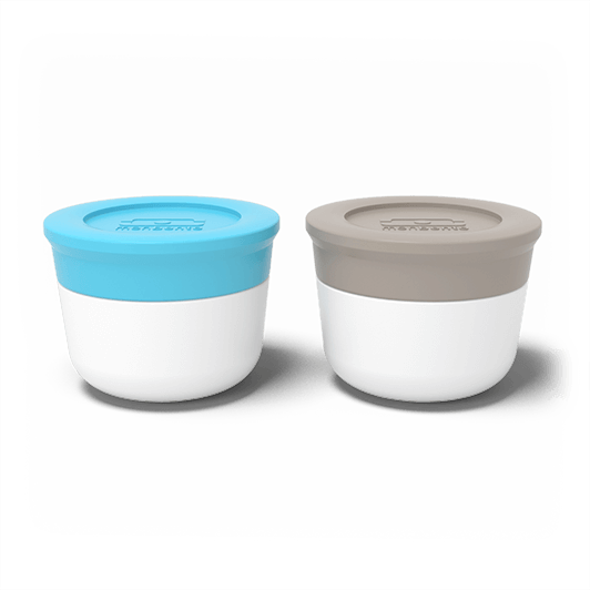 Monbento Temple S - The sauce cups - light blue / grey