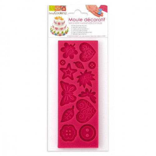 Silicone mould for fondant - Deco