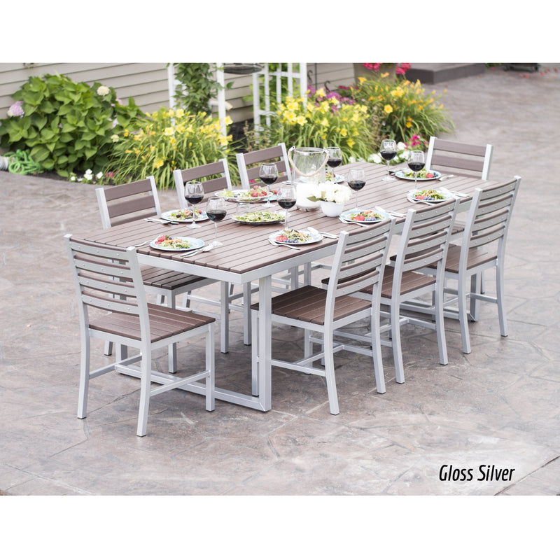 "Elan Furniture Kinzie Outdoor 96"" Rectangular 9 Piece Dining Set"