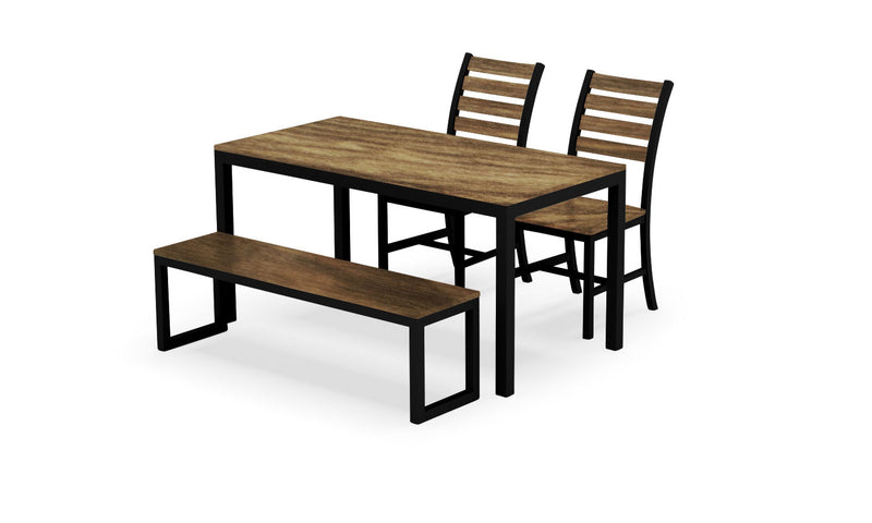 Elan Furniture Loft Indoor Rectangular 4 Piece Bench Dining Set