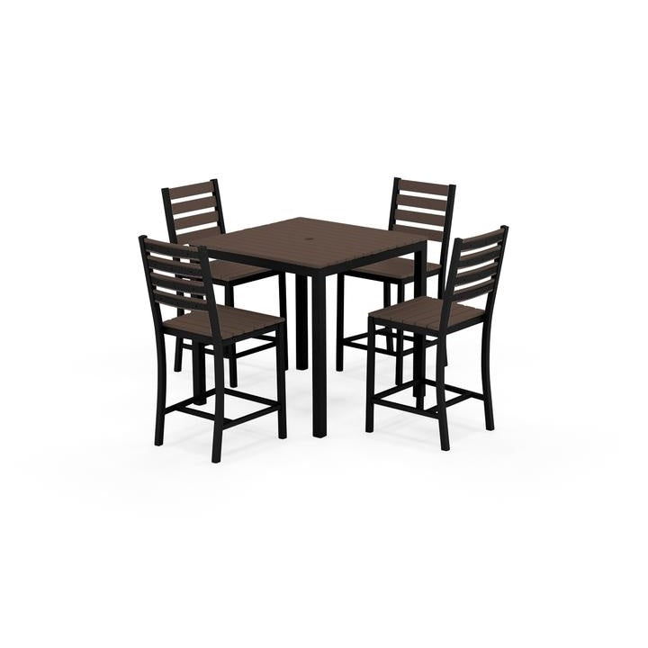 "Elan Furniture Loft Outdoor 36"" Square 5 Piece Bar Height Dining Set"