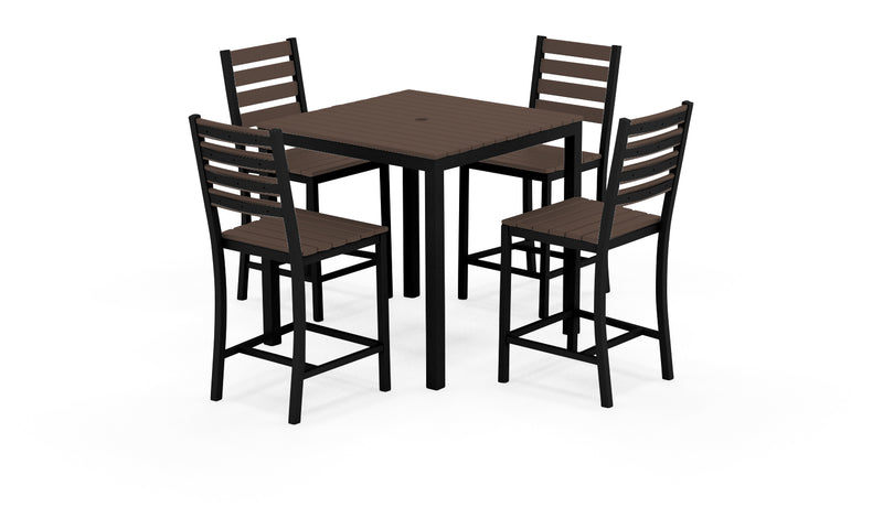 "Elan Furniture Loft Outdoor 36"" Square 5 Piece Counter Height Dining Set"