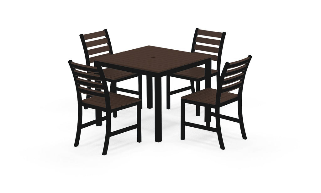 "Elan Furniture Loft Outdoor 36"" Square 5 Piece Dining Set"