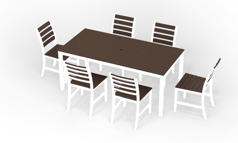 "Elan Furniture Loft Outdoor 72"" Rectangular 7 Piece Dining Set"