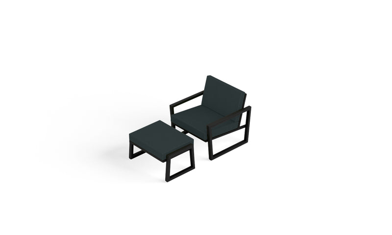Elan Furniture Vero Outdoor 2 Piece Lounge Set