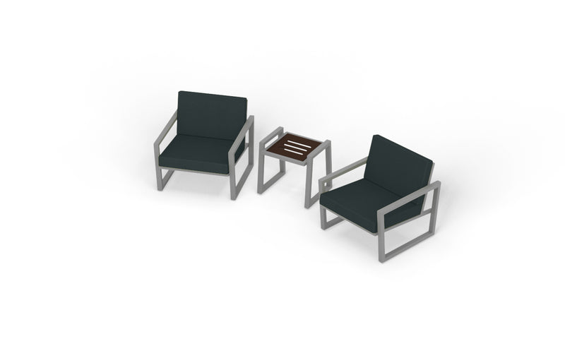Elan Furniture Vero Outdoor 3 Piece Chat Set