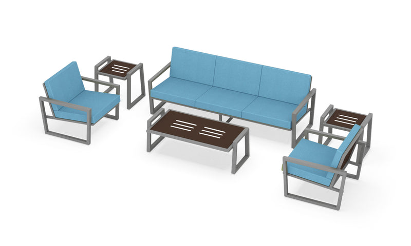 Elan Furniture Vero Outdoor 6 Piece Sofa Conversation Set