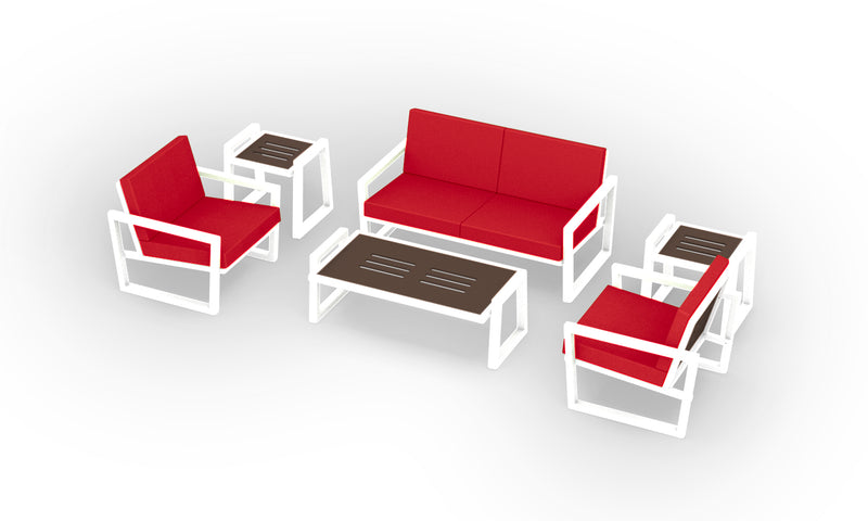 Elan Furniture Vero Outdoor 6 Piece Loveseat Conversation Set