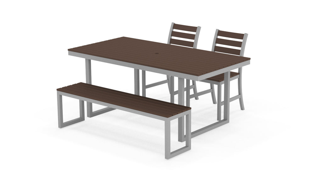 Kinzie Outdoor Modern Dining Set 72in x 36in
