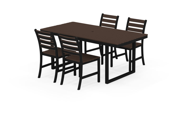 "Elan Furniture Kinzie Outdoor 72"" Rectangular 5 Piece Dining Set"