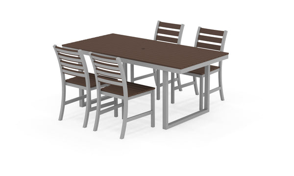 Kinzie Outdoor Modern Dining Set 572
