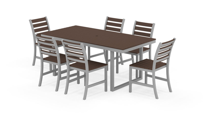 "Elan Furniture Kinzie Outdoor 72"" Rectangular 7 Piece Dining Set"