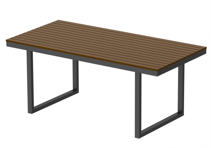 "Elan Furniture Kinzie Outdoor 72"" Rectangular Dining Table"