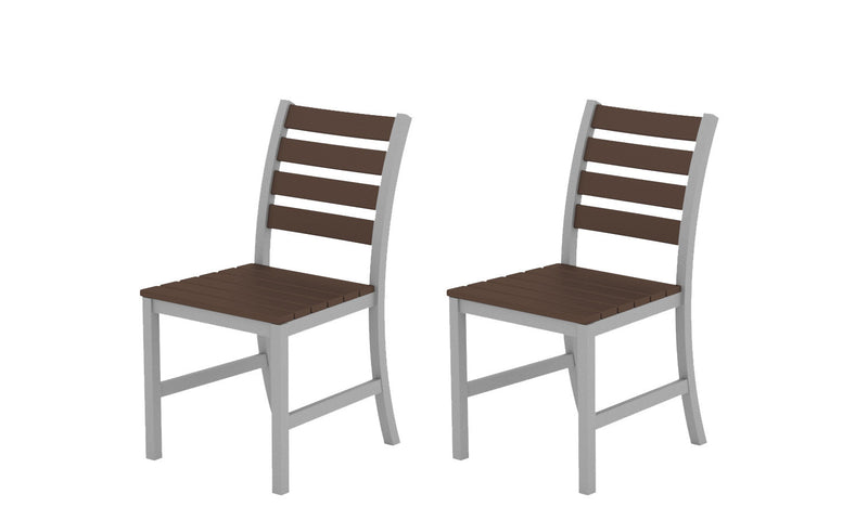 Elan Furniture Loft Outdoor Dining Chair Pair