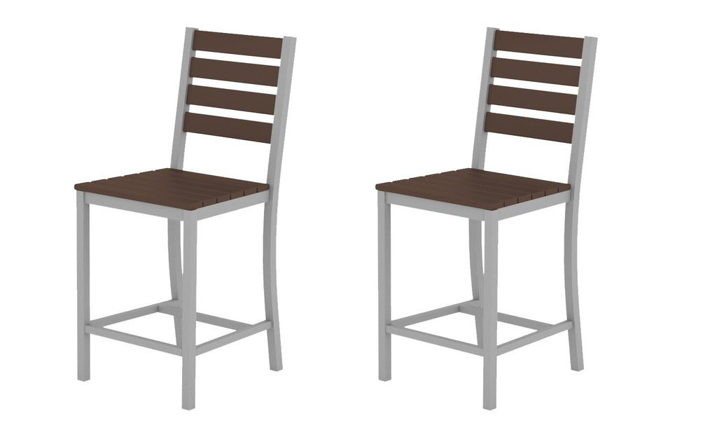 Elan Furniture Loft Outdoor Counter Height Dining Chair Pair