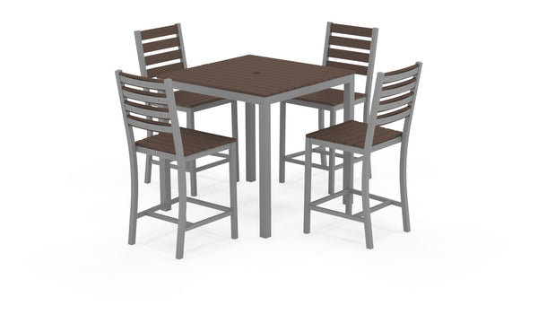 Loft Outdoor Modern Counter Height Dining Set 36 x 36 - 253