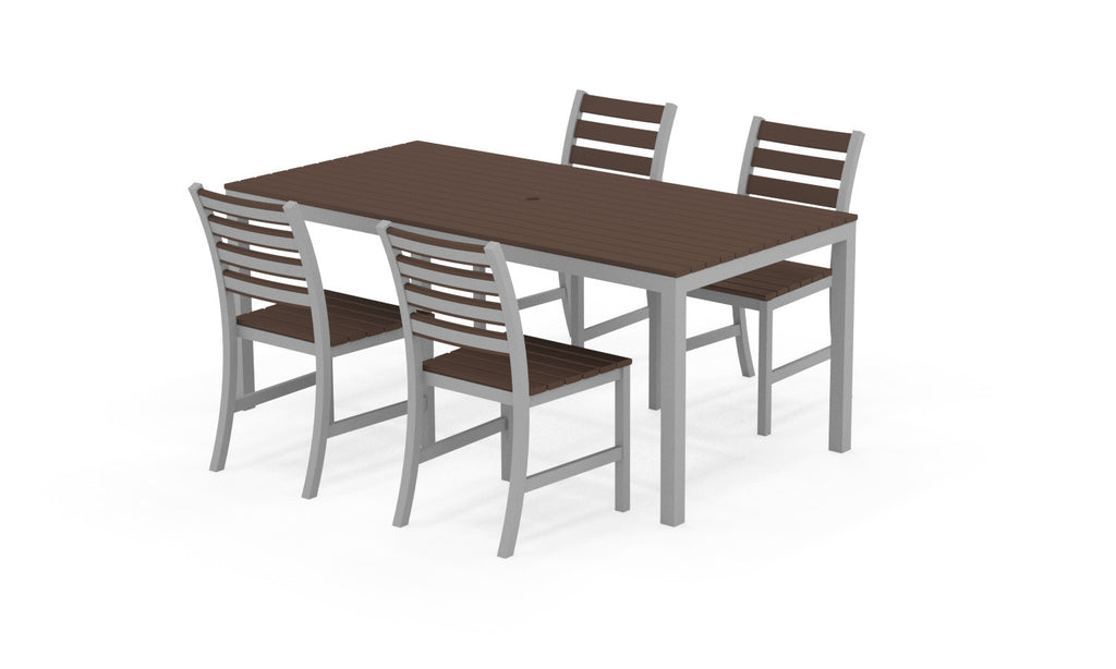 "Elan Furniture Loft Outdoor 72"" Rectangular 5 Piece Dining Set"