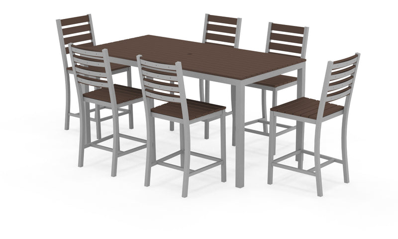 "Elan Furniture Loft Outdoor 72"" Rectangular 7 Piece Counter Height Dining Set"